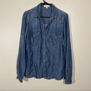 Cloth And Stone Denim Chambray Button Up Shirt